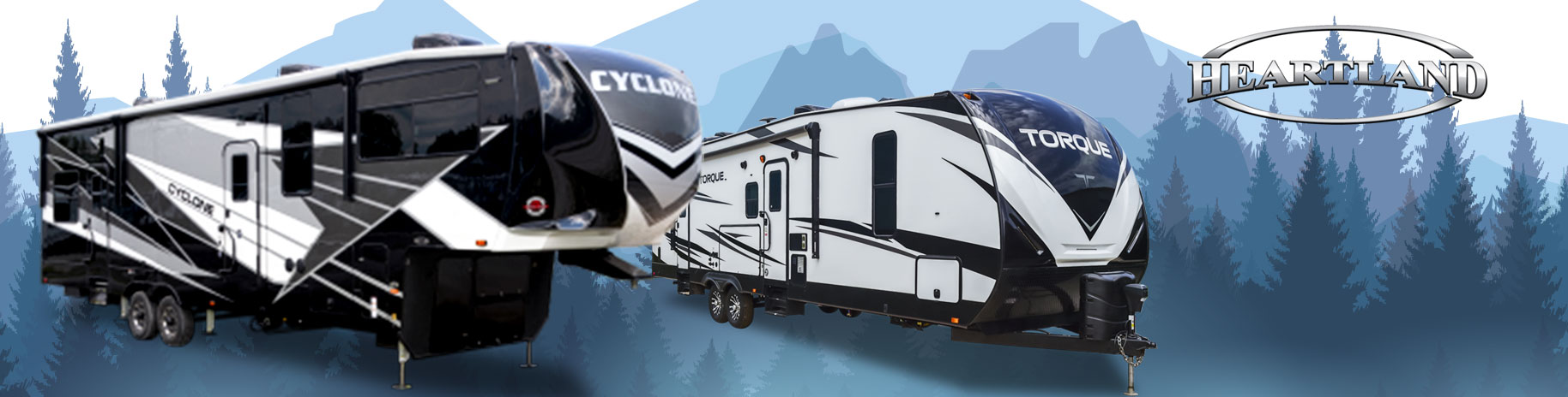 Heartland Cyclone and toque rvs for sale
